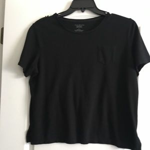 Talbots Black Short Sleeve Shirt